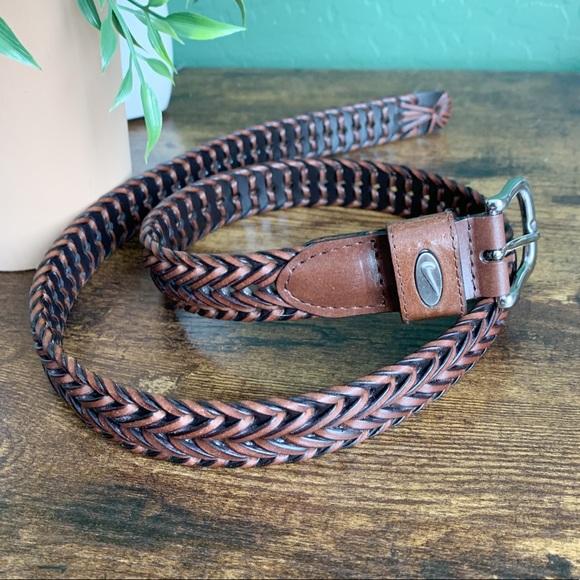 Nike Golf Men's Woven Braided Leather Belt